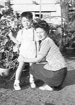 Paul with Mom in Luneta Park, 1948.