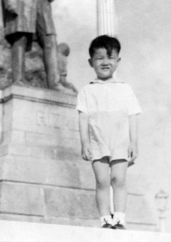 Paul in Luneta Park, 1948.