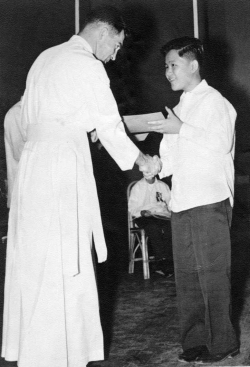 Paul's grade school graduation from Ateneo de Manila, 1957.