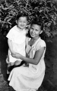 Paul with nanny Maring in Luneta Park, 1948.