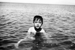 Paul in Paranaque beach resort, 1948.