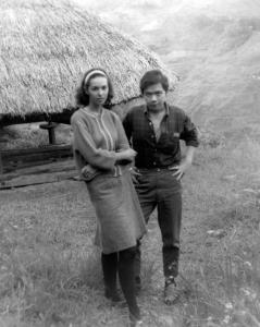 Paul with Gilda at Banaue Rice Terraces, mid-1960s.