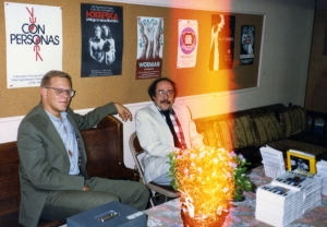 James Grauerholz and Bill Getz in the green room.