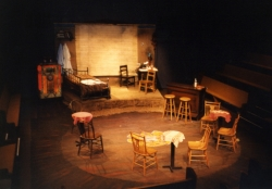 Set design by James Ward for the 1987 Lawrence production.