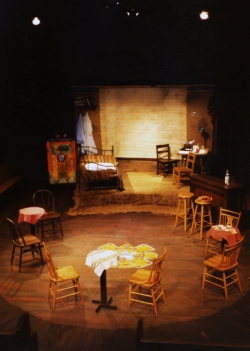 Another view of the set design by James Ward.