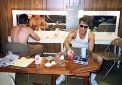 Joe McCauley and Mark Knapp in the dressing room.