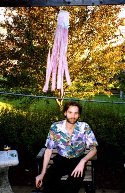 Jim Erdahl in Paul's backyard, 1990.