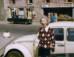 Grant Goodman's mother Elaine in Ireland, 1975.