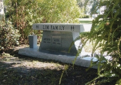 Lim family plot in Orlando, FL.