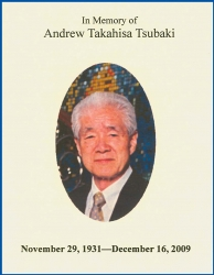 Program for Andrew Tsubaki memorial.