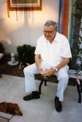 Ed Grier at one of Paul's garden parties, late 1980s.