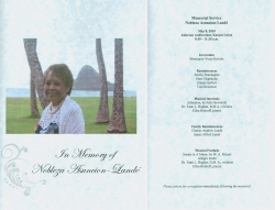 Program for Nobleza Asuncion-Lande memorial.