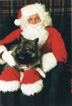 Imelda with Santa, 1985.
