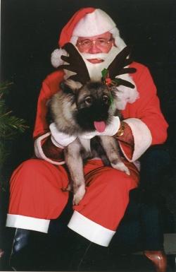 MyKee with Santa. 1997.