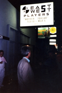 Director Paul Hough standing outside the theatre on Santa Monica Blvd.