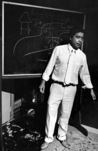 Alberto Isaac (David Lee) in one of the classroom sequences in the play.