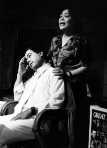 Alberto Isaac with Estelle Bennett.