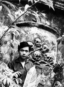 Paul by the catacombs at Paco Cemetery in Manila, mid-1960s.