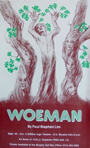 Poster design for Lawrence production by painter Dennis Helm.