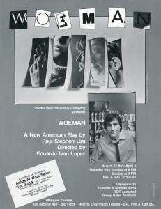 Flyer for Off-Broadway production.